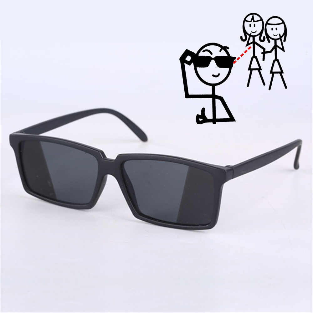 Oulylan Anti-tracking rearview glasses See Behind Spy Sunglasses  Shades with Mirror on Side Ends Costume Glasses for Adult