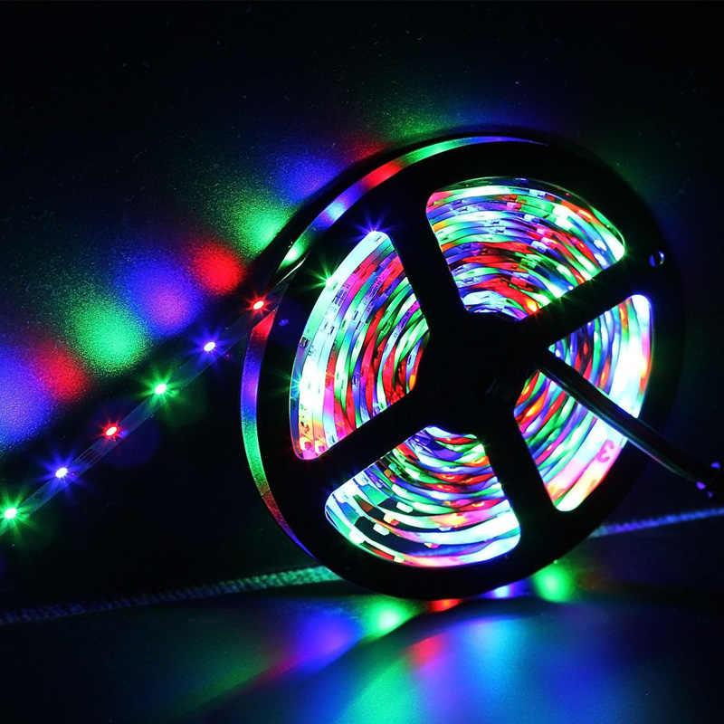 5 M/16.4 Ft SMD 3528 RGB 300 LED Warna Mengubah Kit dengan Fleksibel Jalur Cahaya + 24 Kunci IR Remote Control + Power Supply