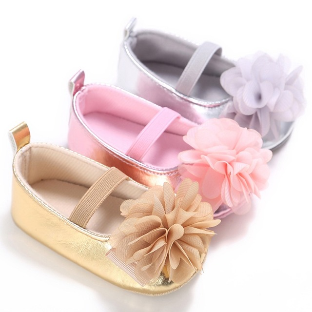 Princess Flower Infant Girls Baby Moccasins Soft Sole Prewalker Sneaker Birthday Wedding Shoes Toddler