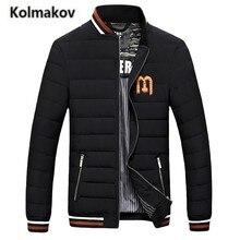 KOLMAKOV 2017 new winter men's high quality fashion Baseball collar casual down jacket,90% white duck down coats parkas men.