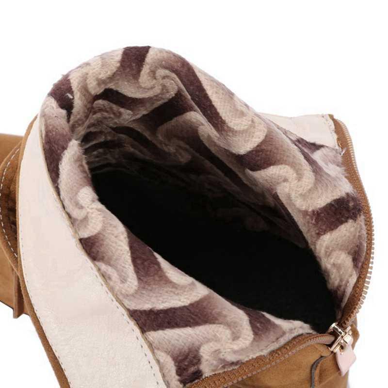 REAVE KEDI Ayakkabı Kadınlar EURO boyutu 34-46 moda Sonbahar Bahar akın Kadın yarım çizmeler Kalın topuk Fermuar ayakkabı Saçak toka A860