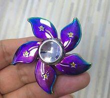 เย็นB Auhiniaดอกไม้EDC Triปินเนอร์โลหะอยู่ไม่สุขนิ้วมือแบริ่งหมุนลูกดอกของเล่น