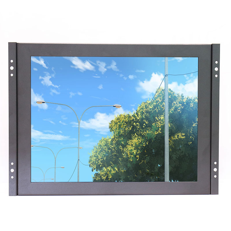 ZHIXIANDA KF12 12 inch open frame industrial metal shell lcd monitor 1024 768 standard resolution