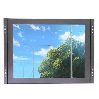 Zhixianda KF12 12 Inch Bingkai Terbuka Industri Logam Shell Monitor LCD 1024*768 Resolusi Standar