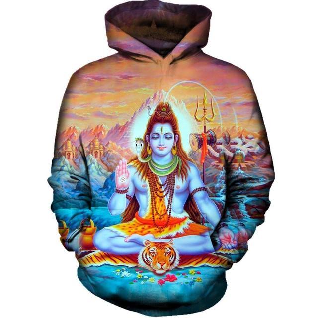Shiva Hoodie Sweatshirts Pullovers Hinduism