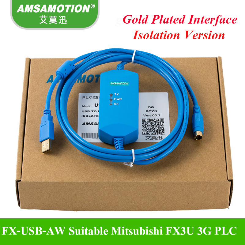 FX-USB-AW Suitable Mitsubishi PLC Programming Cable Communication Download Cable FX3U FX3G