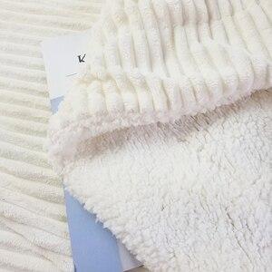 Image 5 - Reversible Künstliche Wolle Decke Super Weiche Frühling Sommer Werfen Einfarbig Einzigen Doppel Größe Korallen Fleece Sherpa Decken
