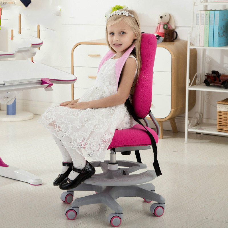 High Quality Children Learning chair lifting student correcting posture chair household computer chair against myopia seat the new salon haircut chair chair barber chair children hydraulic lifting chair