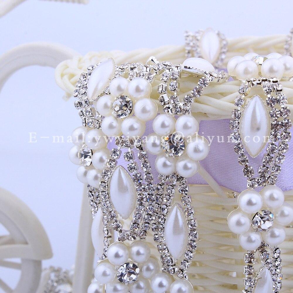 5 meter diy kristal berlian imitasi pemangkasan rantai 5mm manik mutiara  untuk gaun pengantin sepatu tas dekorasi aksesoris jahit potong 921f41630628