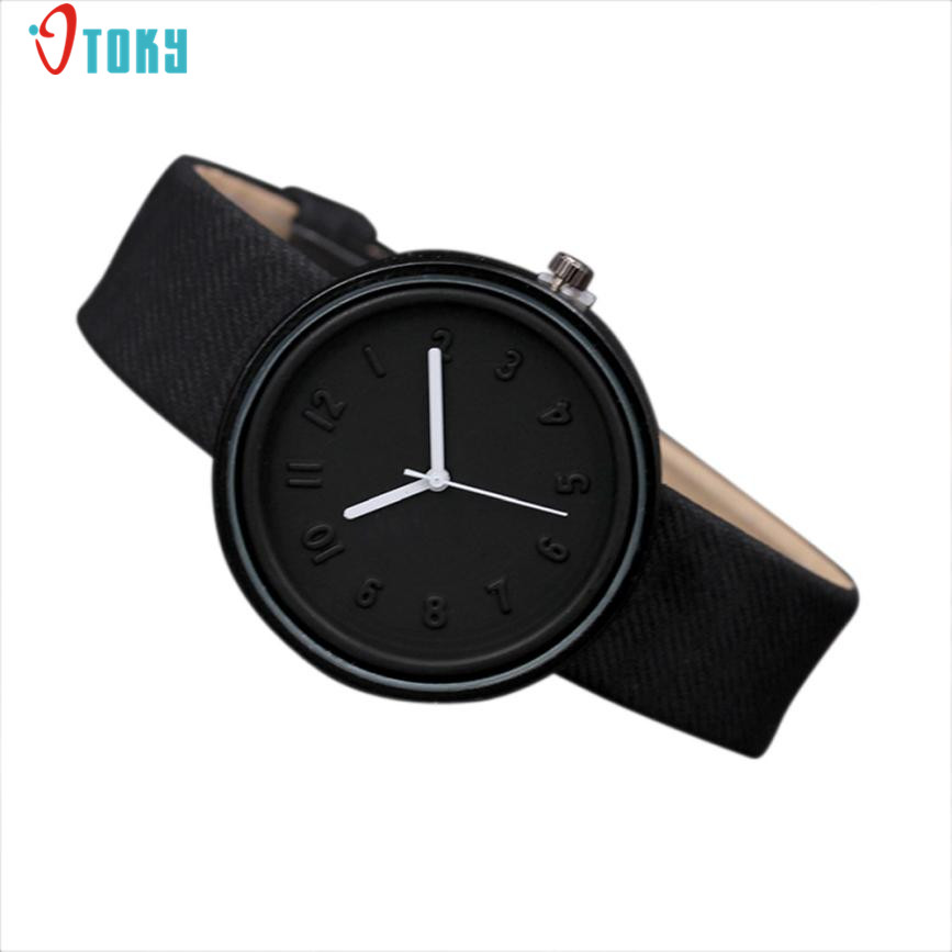 Simple Fashion font b Women b font font b Watches b font Casual Number Clock Quartz
