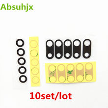Absuhjx 10pcs Back Camera Glass for iPhone 7 8 6 6S Plus X XS Max XR Rear Camera Cover Lens with 3M Sticker Adhesive Parts(China)