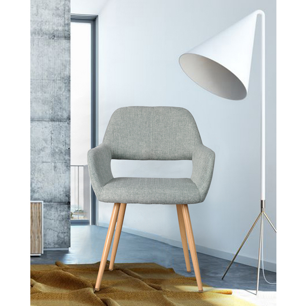 Lounge Chair With Open Back, EGGREE Scandinavian Design Lounge Chair For Living Room Waiting Room, Grau madrid lounge chair