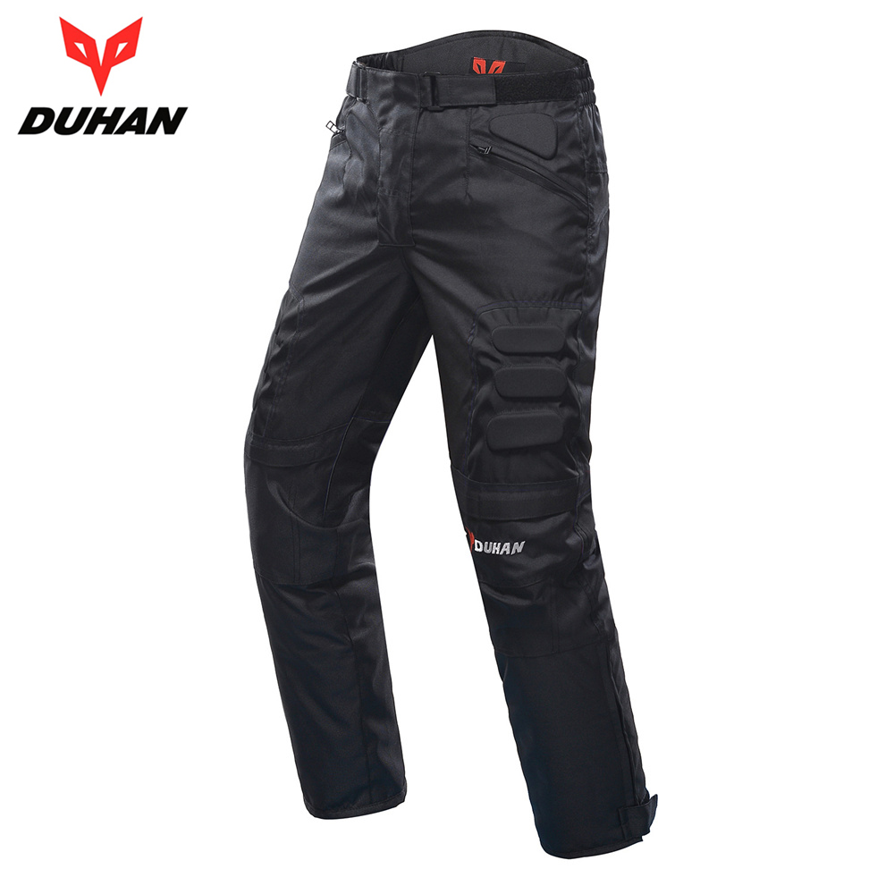 DUHAN Motorcycle Pants Men Windproof Motorcycle Enduro Motocross Pants Riding Trousers Moto Pants With Knee Protective Gear duhan men s motorcycle jeans motorbike riding biker trousers denim motorcycle pants men moto pants knee guards protective gear