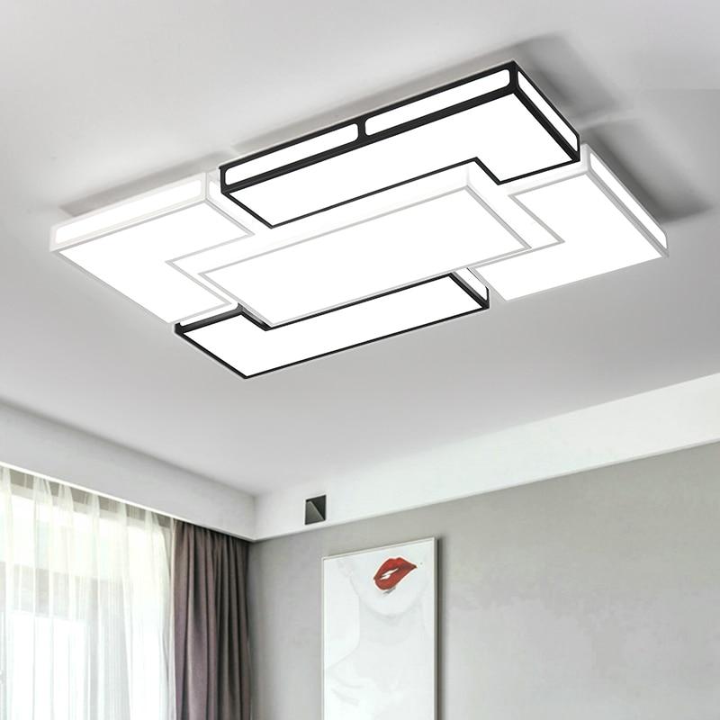Modern LED Ceiling Light For Living Dining Room Decoration Lighting Fixtures AC85~265V White Black Ceiling Lamp lampara de techo