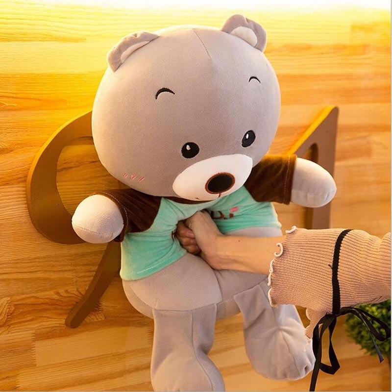 Lovely Wearing Clothe Bear Plush Toy Stuffed Animal Bear Plush Doll Gift For Children Kids in Stuffed Plush Animals from Toys Hobbies