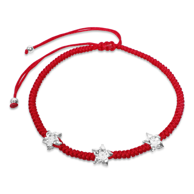 925 pure silver female fashion accessories transhipped male red string anklet anklets