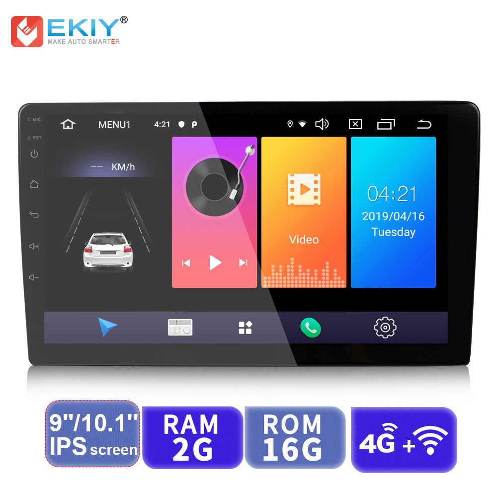 EKIY 9'' /10.1'' IPS Android 9.0 Universal 2 Din GPS Navi  Car Radio Multimedia Player BT 4G Wifi Auto Stereo Audio Video Player