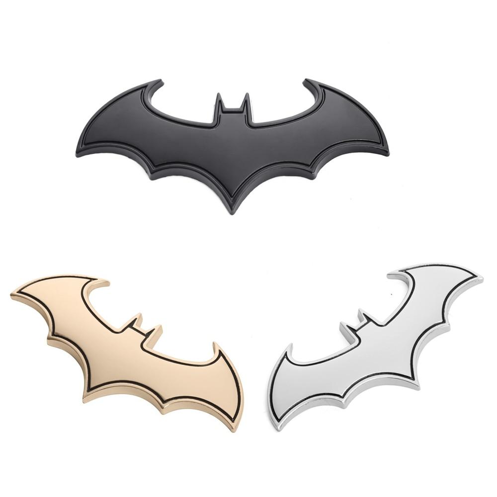 1pcs Metal Batman Car Badge Emblems Batman Logo Car Sticker Decal Auto Decals