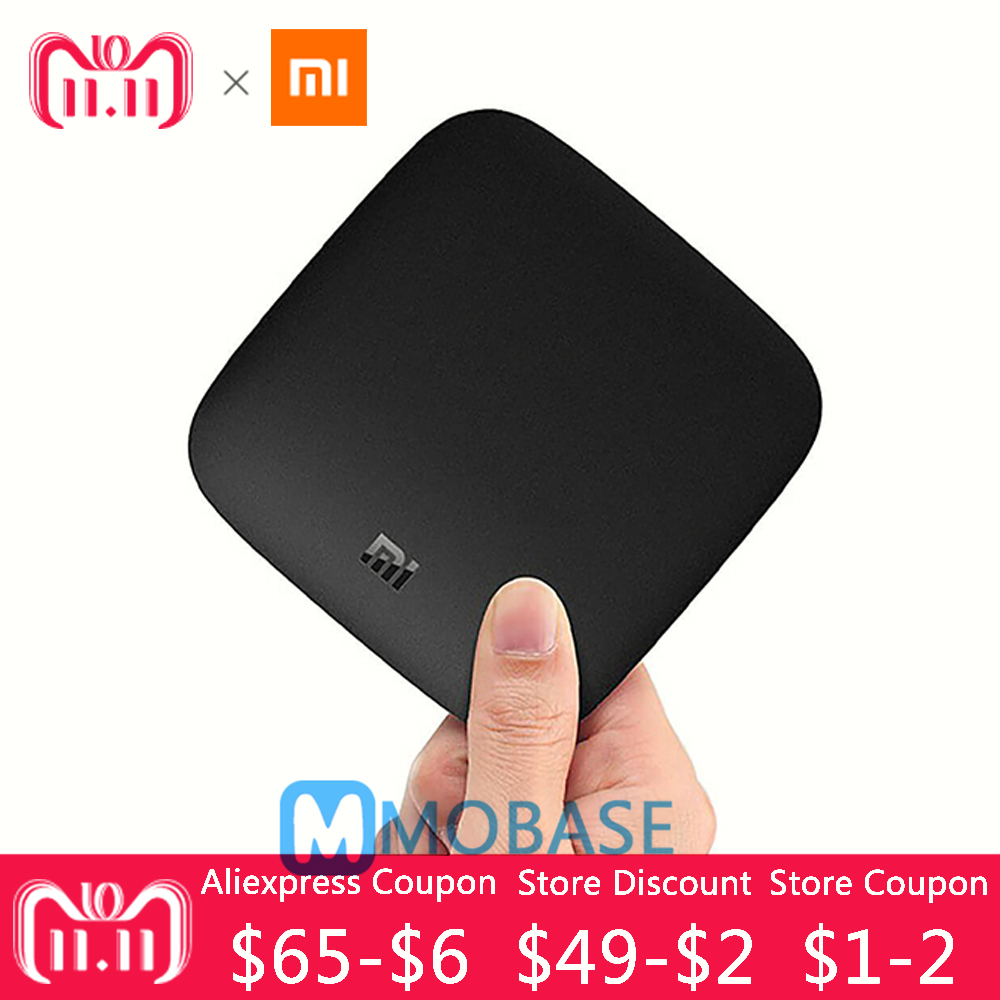 цена [Official International Version] Xiaomi Mi Box 3 Android 6.0 TV Box 2G/8G Dual WiFi Smart TV IPTV Media Player Set Top Box