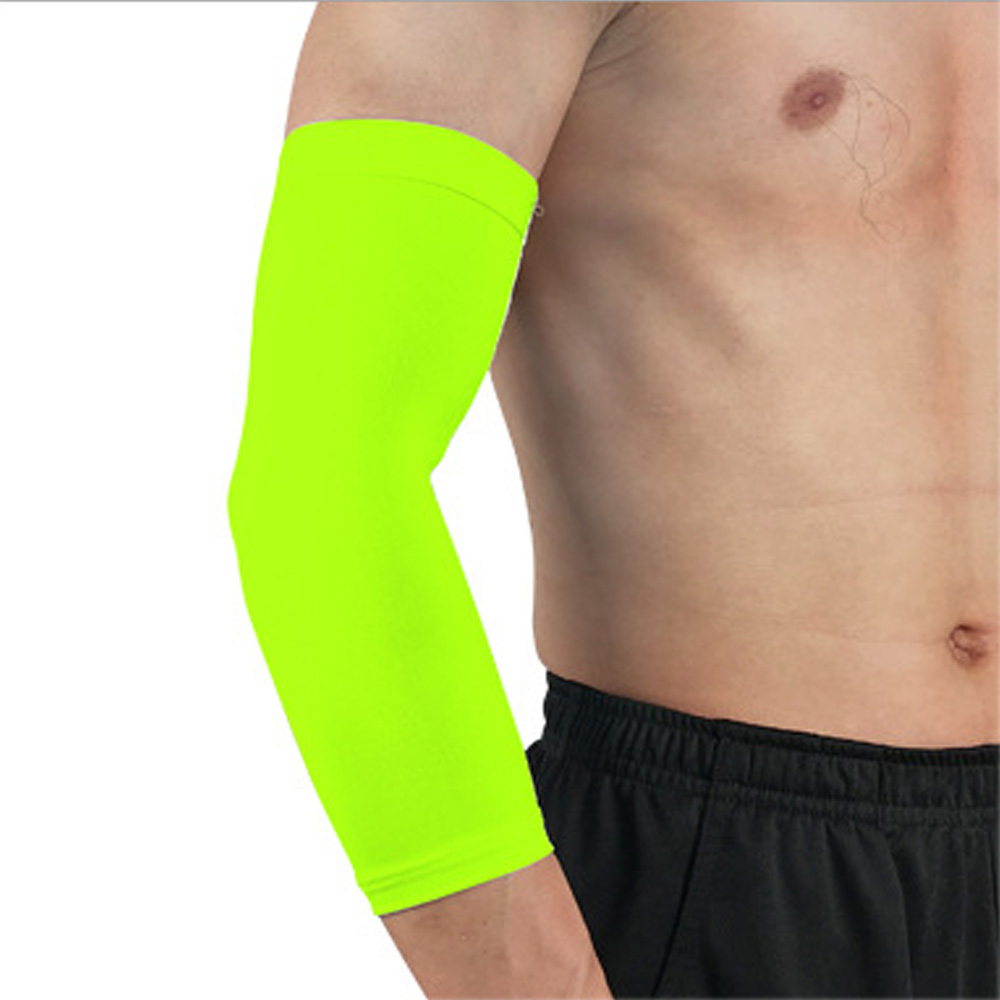 Men's Arm Warmers Sports Elbow Pads Breathable Arm Sleeve Solid Color Sports Protective Gear 1pc Spslf0032 High Safety