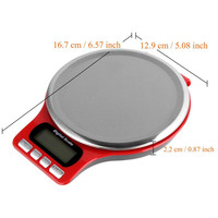 40pcs 3kg/0.1g Digital Multi function Food Kitchen Scale,Stainless Steel Platform with LCD Display include battery