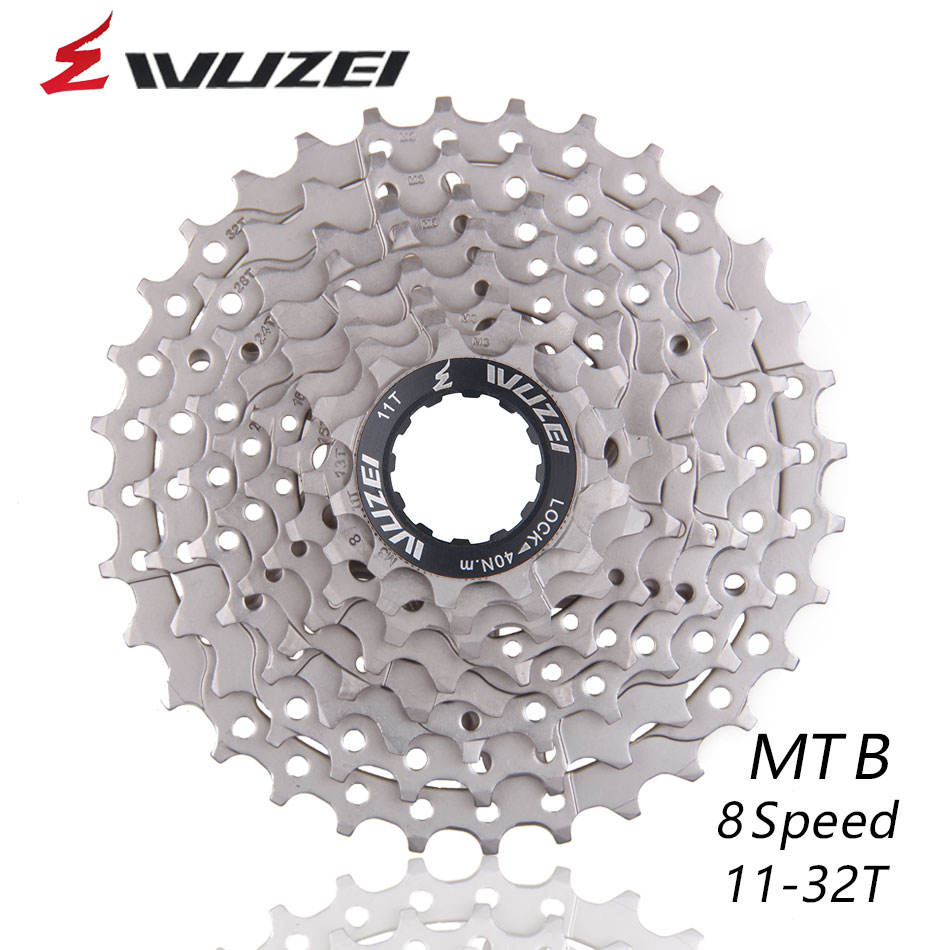 WUZEI 11-32T 8S 16S 24S Speed Cassettes Flywheel MTB Mountain Bike Bicycle Flywheel Sprockets Compatible with M360 M410 k7 X4 image