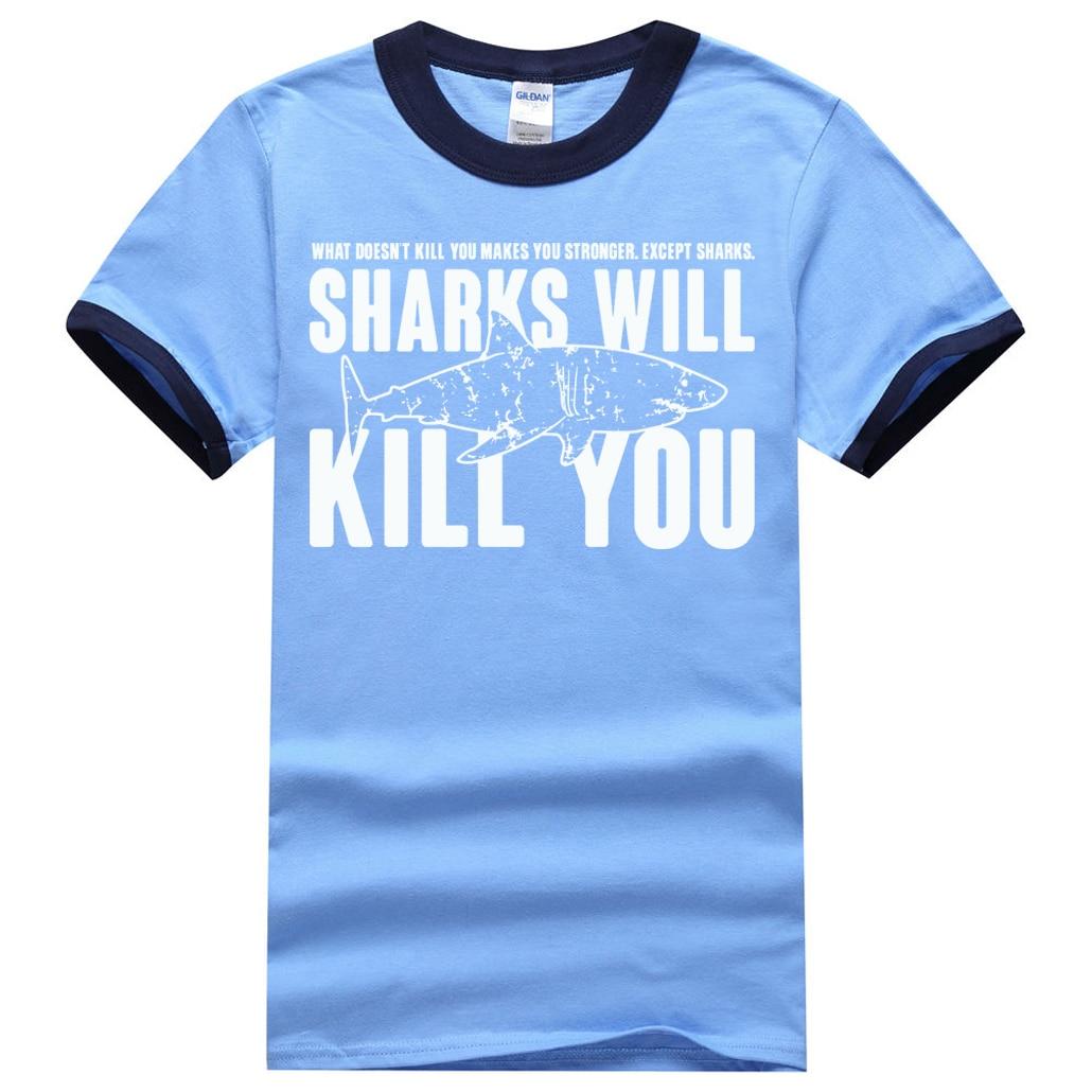 """""""Sharks will kill you"""" Shark T-Shirt for Men 7"""
