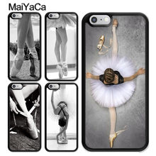 MaiYaCa Ballet Ballerina Dance Shoes Slipper for iPhone 4S 5C 5S 6S Plus X XR XS MAX Black Soft Shell Phone Case Rubber Silicone(China)