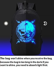 Anime Tokyo Ghoul Backpack Stylish USB Charging Luminous Student Casual Backpacks
