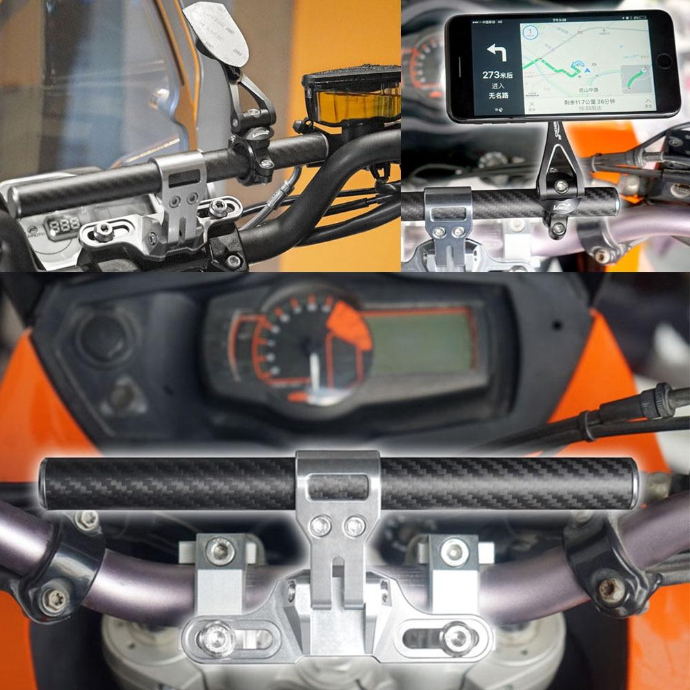 Motor Bike GPS Mount Holder For KAWASAKI Versys 650 2006-2014 ER-6n / ER-6f 650 2009-2016 Smart Bar for kawasaki er 6n 2009 2015 ninja 650 er 6f er 6f 2009 2015 balance shock front fork brace gold
