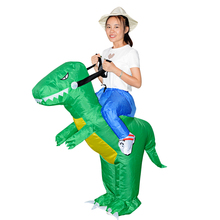 Dino Ride Costume Adult Inflatable Dinosaur Costumes Anime Cosplay Halloween Party Carry Me Rider Clothing For Women Men Kids