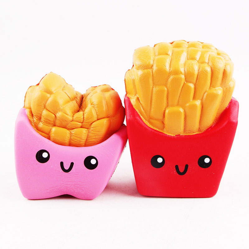 Cartoon Ice Cream Fries Squishy Toy Simulation Slow Rebound Squeeze Slowly Up Toys Anti-stress Skvish Decompression Toys Novel (In) Design;