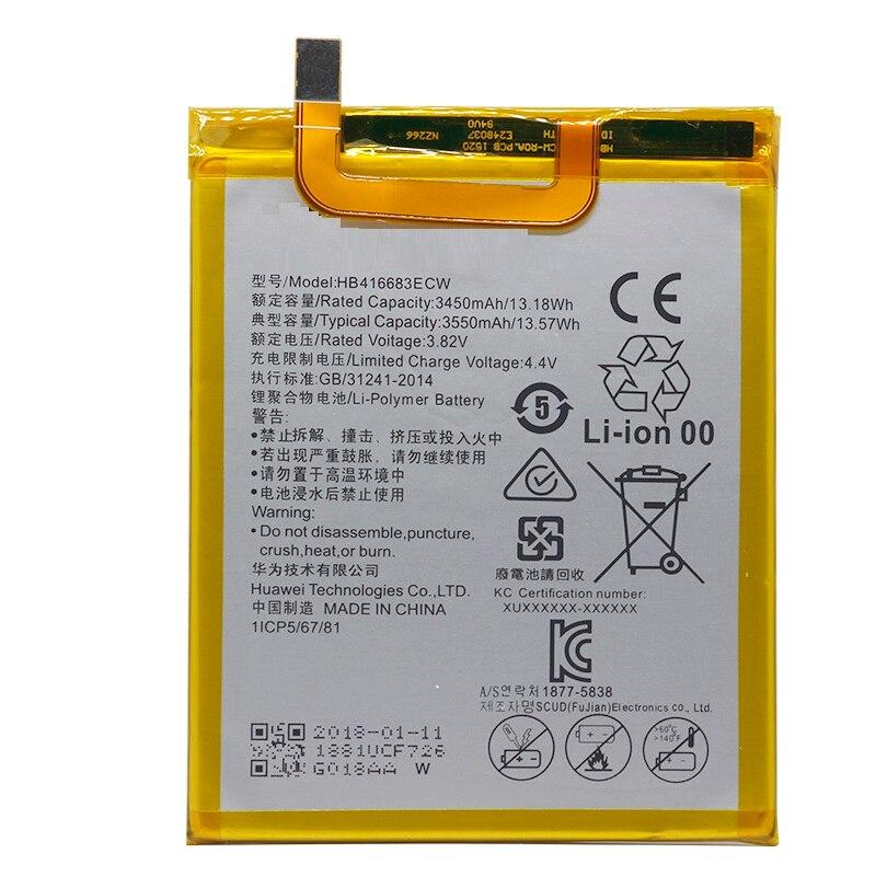 Phone Battery HB416683ECW for Huawei Nexus 6P H1511 H1512 3450mAh Original  Replacement Battery Free Tools