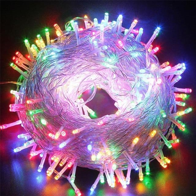Led di vacanza Luci di Natale Garland String Light10M 20M 30M 50M 100M AC220V di Natale Impermeabile Luci Di Natale lampada della decorazione