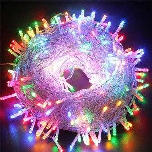 Image 1 - Urlaub Led Weihnachten Lichter Girlande String Light10M 20M 30M 50M 100M AC220V Weihnachten Wasserdicht Weihnachten Lichter dekoration Lampe