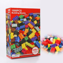 SLPF Small Particle Building Blocks 1000 Pieces Assembled Manual DIY Kindergarten Spell Inserted Green Plastic Toys Legoings F01