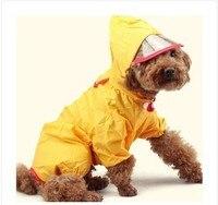 Büyük Köpek Naylon Yağmurluk Su Geçirmez 4 Bacaklı Yağmur Ceket Büyük Köpekler için 5 colours Sz 20-30