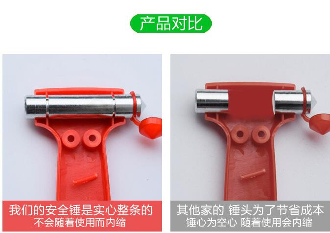 2018 Auto-styling CARsafety hammer accessories. FOR Toyota Corolla Avensis Rav4 Yaris Auris Camry Prius Hilux Verso STICKER