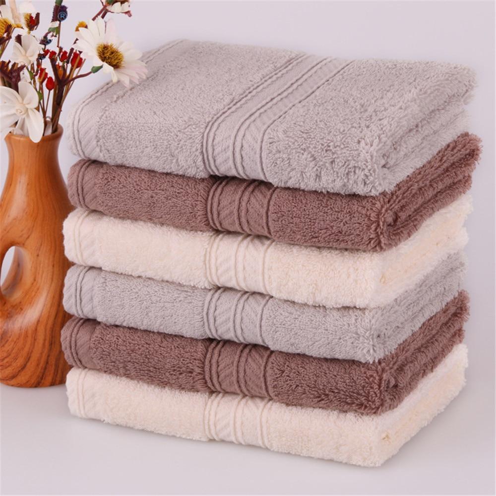Natural Washcloths Wholesale: Wholesale 34cm 100% Cotton Hand Towel Thicken Soft