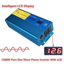 Display Digital LED 1200 W/2400 W 12 V DC para 220 V-240 V AC Conversor de Energia fornecer Onda Senoidal Pura Potência Do Inversor