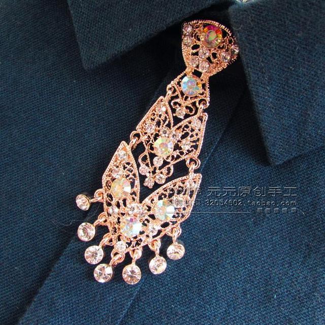 Novo Frete Grátis moda masculina casual masculino original original de metal diamante handmake amarrar gravatas gravata Coreano personalizado na venda