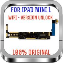 Placa base 100% probada para Ipad mini1, placa base de repuesto con chips A1432, desbloqueado, Wifi, placas lógicas para Ipad mini 1