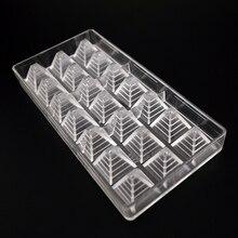3D pyramide form polycarbonat schokoladenformen, großhandel pc kunststoff schokolade pyramide form, küche backformen pyramide