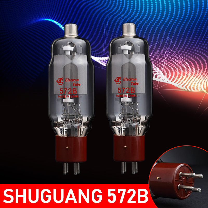 2019 New 2Pcs Tested By Factory Shuguang 572B Vacuum Tube For Amplifier Tested Welding Equipment Tube Welders