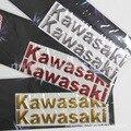 Barato decoración del coche de la motocicleta para Kawasaki logo car stickers decal 3D suave reflectores Motocicleta pegatinas reflectantes