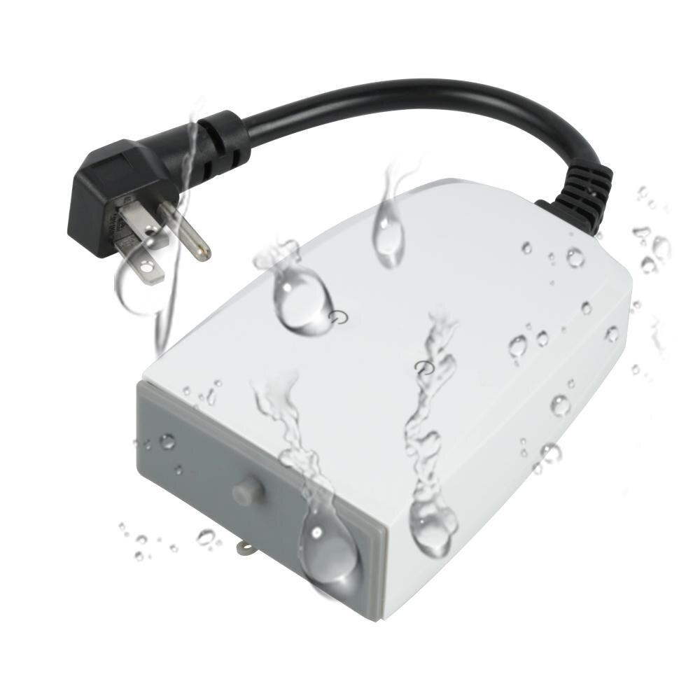WiFi Smart Prise Étanche App Contrôle Travail Alexa Google Maison IFTTT Programme de Synchronisation En Plein Air/Intérieur Utiliser US Plug