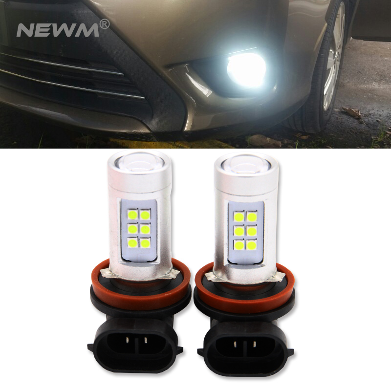 2x H8 H11 3030 Chips LED Fog Light DRL Bulb Error Free For <font><b>Audi</b></font> A3 A4 A5 S5 <font><b>A6</b></font> Q5 Q7 TT image