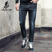 Pioneer Camp New Casual Jeans Men Brand Clothing Fashion Solid Denim Trousers Male Top Quality Straight