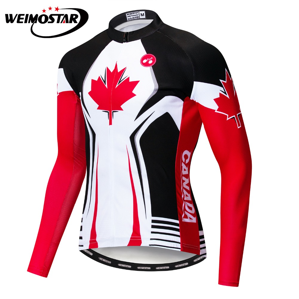 087adbe8c 2019 Canada MTB Spring Autumn Men Long Sleeve Cycling Jersey Clothing Pro  Team Mountain Road Cycle Wear Bicycle Bike Shirt Top-in Cycling Jerseys  from ...