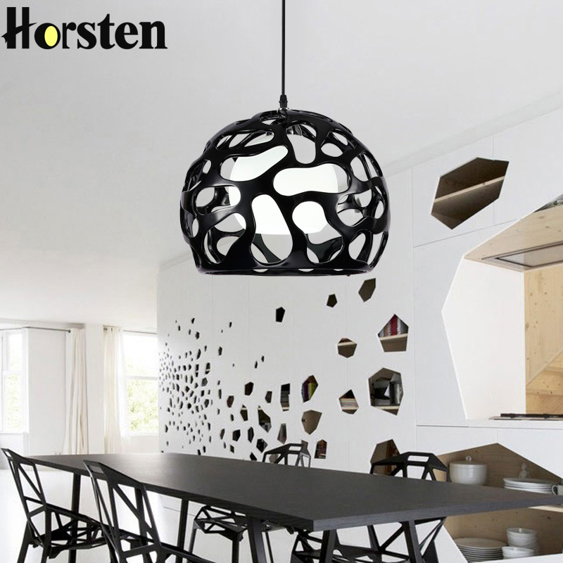 Horsten Modern Nordic Resin Pendant Lights Simple Pendant Lamps For Dining Room Bedroom Restaurant Hollow Ball Pendant Lighting modern simple european style dining room lighting american hollow carved iron bedroom pendant lights